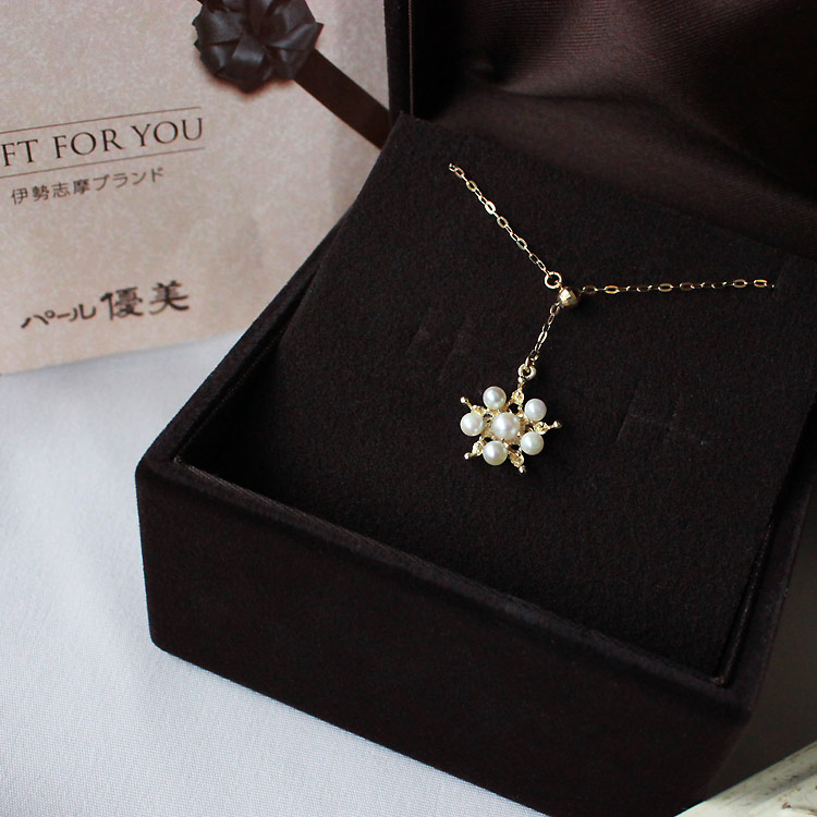 akoya超稀少小海珠2.5-3.5mm 雪之晶项链 K18黄金