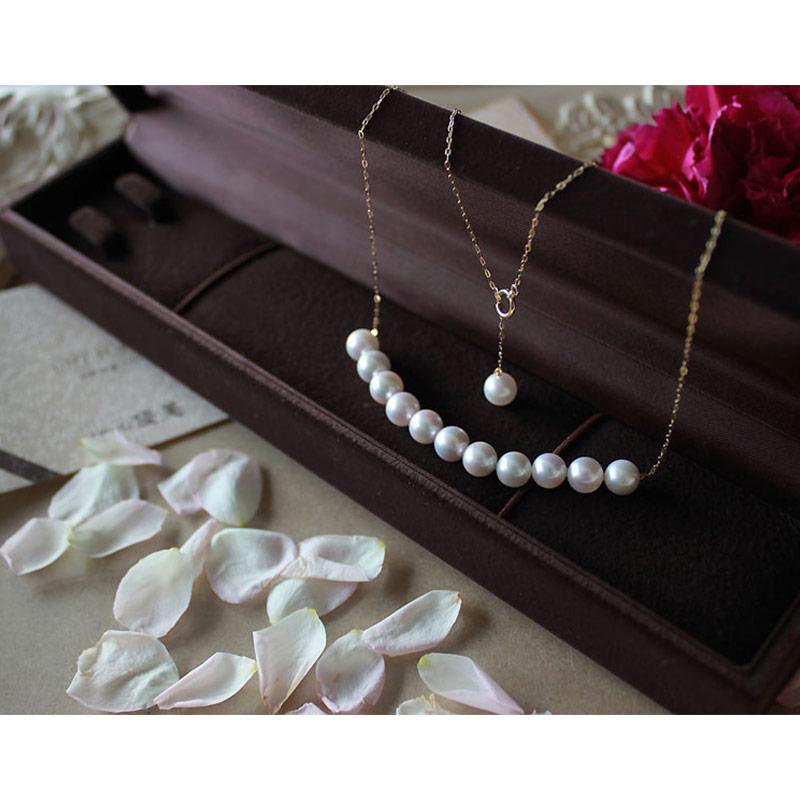 Akoya海水珍珠项链 7-9mm 可移动款式 K18黄金or K14白金 送礼物【2-4周发货】